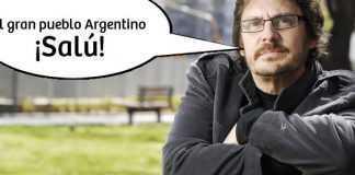 """Felipe Pigna: """"Al Gran Pueblo Argentino Salud"""""""