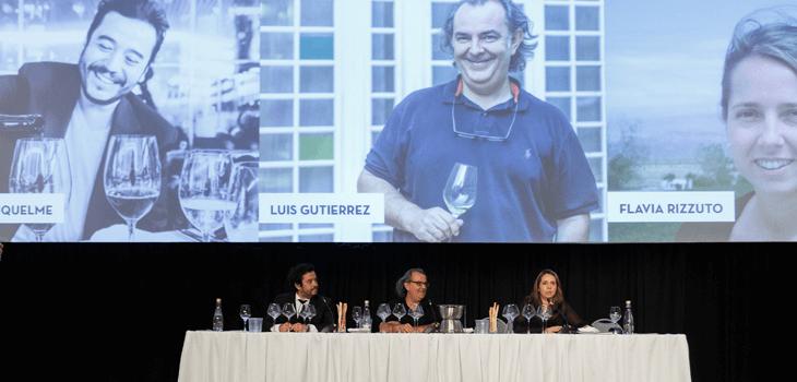 Héctor Riquelme, Luis Gutiérrez y Flavia Rizzutto fueron los encargados de dirigir la cata de 42 etiquetas argentinas.