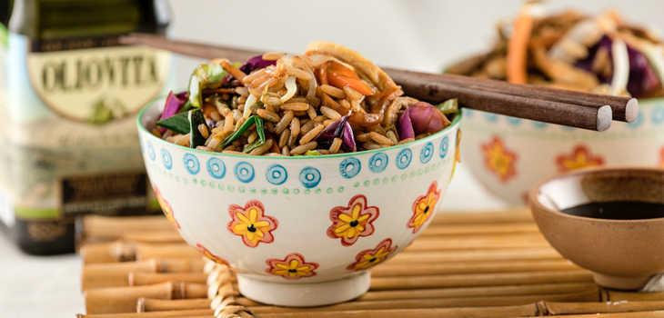 Prepará un wok de arroz
