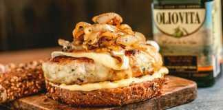 receta de hamburguesas de pollo