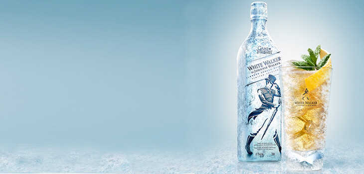 white walker by johnnie walker: whisky inspirado game of thrones