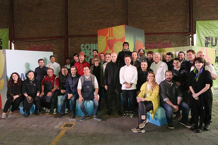 Chefs y autoridadades del GCBA presentes en el lanzamiento de la decima edicion de Masticar