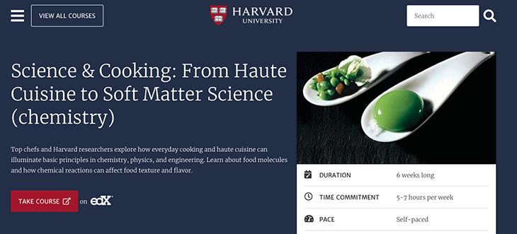 Curso de cocina en Harvard
