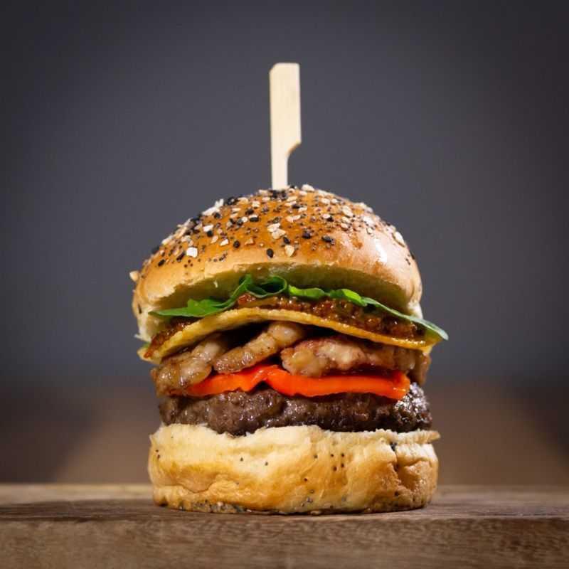 La hamburguesa con mollejas