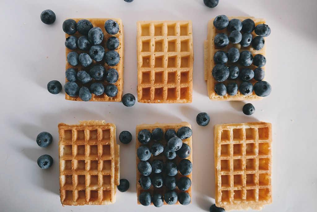 masa de waffles