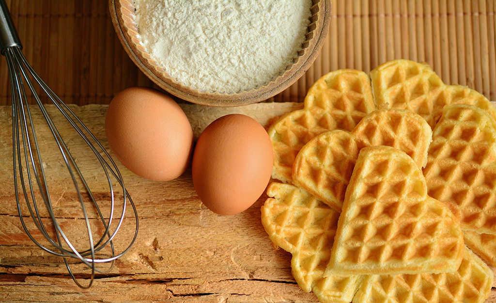 waffles en cuatro pasos